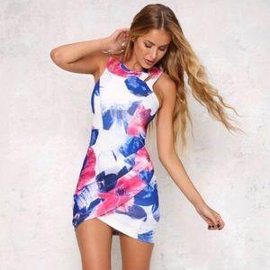 YOINS Floral Mini Dress